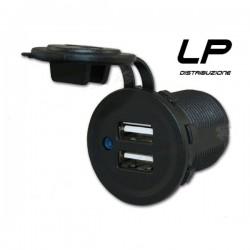 Doppia presa da pannello USB